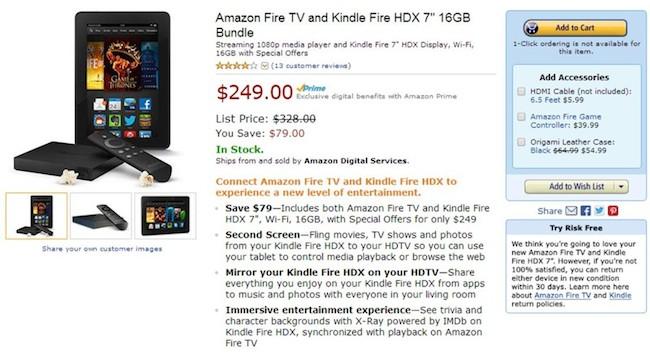 Amazon Fire TV Kindle