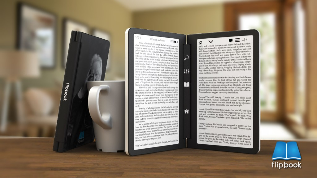new dual screen e reader concept