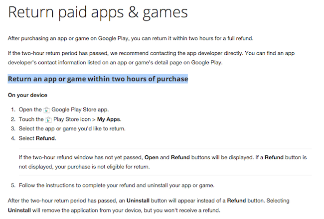 Google-Play-refund-policy-2-hours