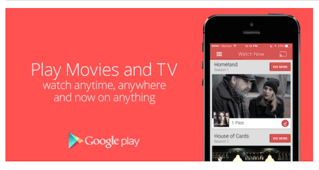 go to google play movies and tv