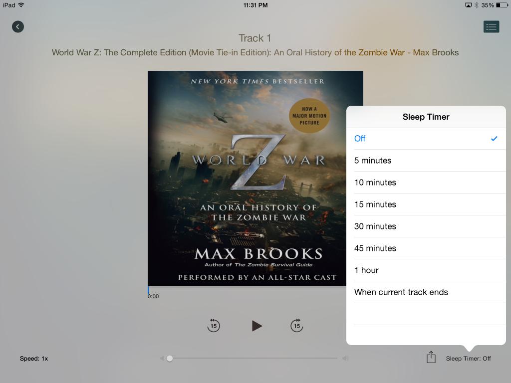 Apple iBooks audiobooks