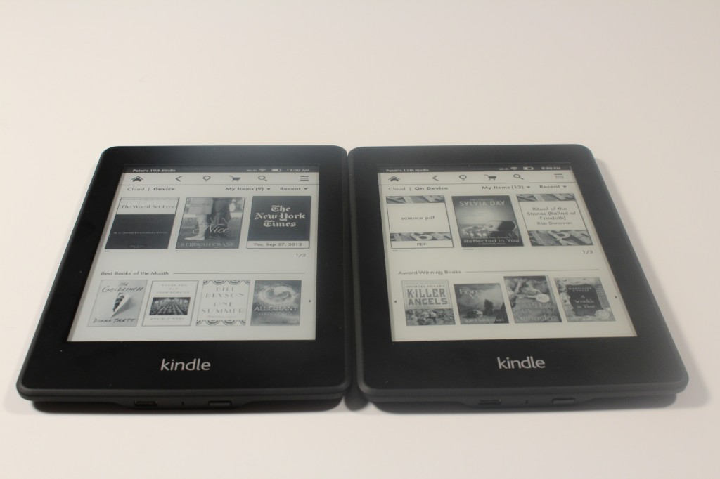 Kindle Vs Sony Reader: Amazon Kindle Paperwhite 1 Vs The Paperwhite 2