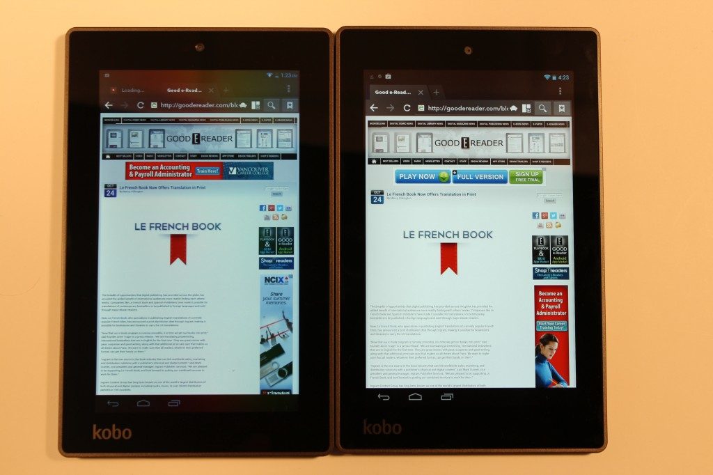 kobo arc 7 and kobo arc 7 hd