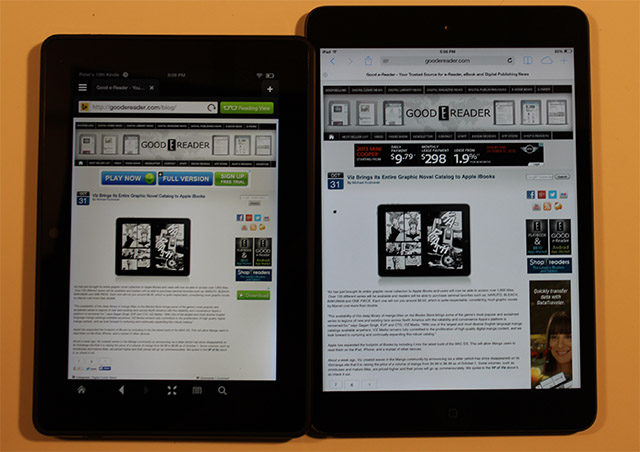 Apple Ipad Vs Kindle: Amazon Kindle Fire HDX 7 Vs Apple IPad Mini