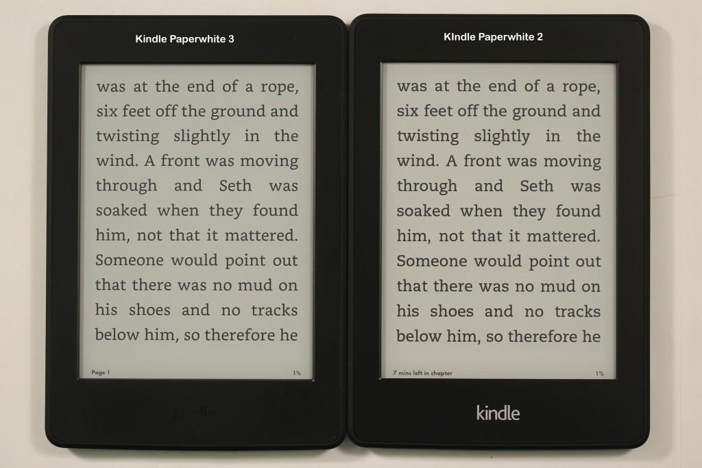 Amazon Kindle Paperwhite 3 Vs Kindle Paperwhite 2