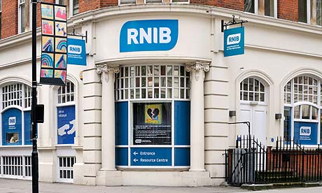 London office of RNIB charity, the Royal Institute of Blind People.