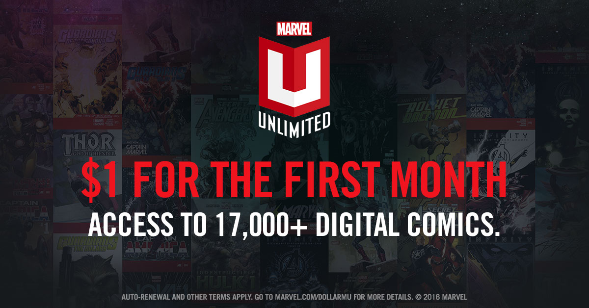 Marvel Coupon Marvel Unlimited Coupon and Deals by CODES Marvel Digital Comics Unlimited, the greatest collection of Marvel Comics ever assembled online, is THE digital destination for fans of Spider-Man, Iron Man, Wolverine, Hulk, The X-Men, Captain America, Thor and so many more!