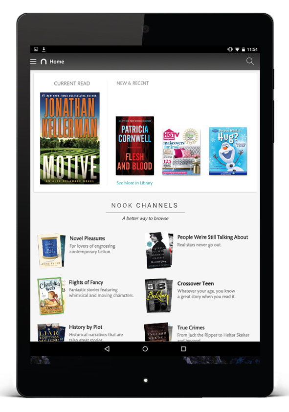 NOOK App for Android_Home