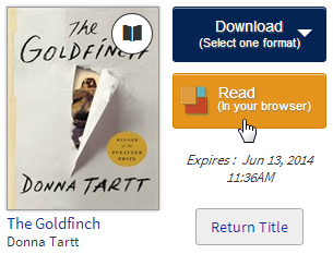 OverDrive Read on bookshelf