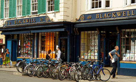 The Blackwell book shop in Broad Street Oxford, England, UK