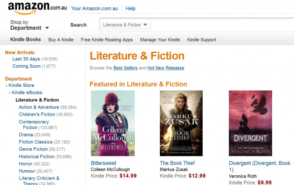 Amazon Starts selling eBooks, e-Readers and Apps in Australia
