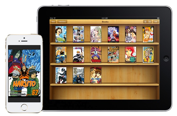 VIZ family shot on iBooks