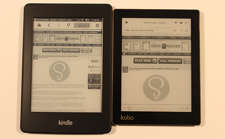 amazon kindle paperwhite and kobo aura