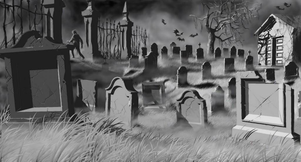 graveyard scene