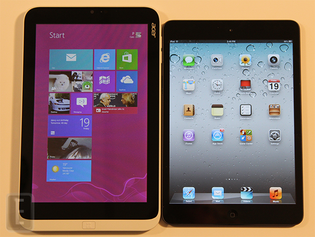 ipad mini vs acer iconia w3
