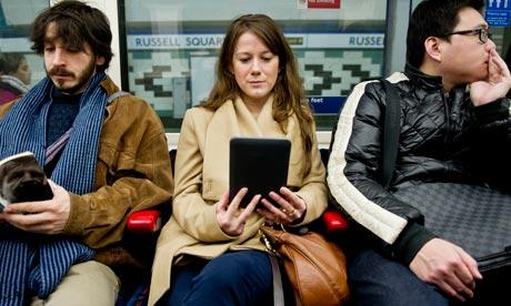 kindle reading on the underground