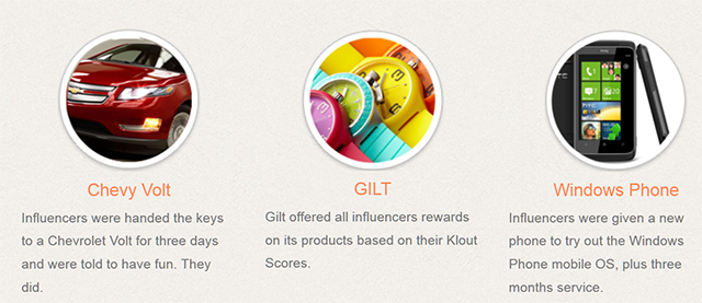 klout perks