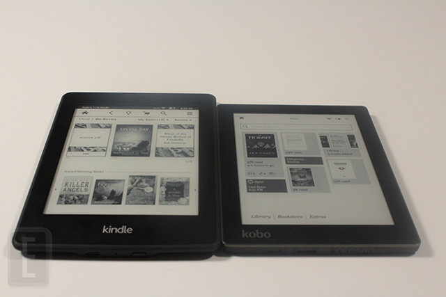 kobo aura - amazon kindle paperwhite 2