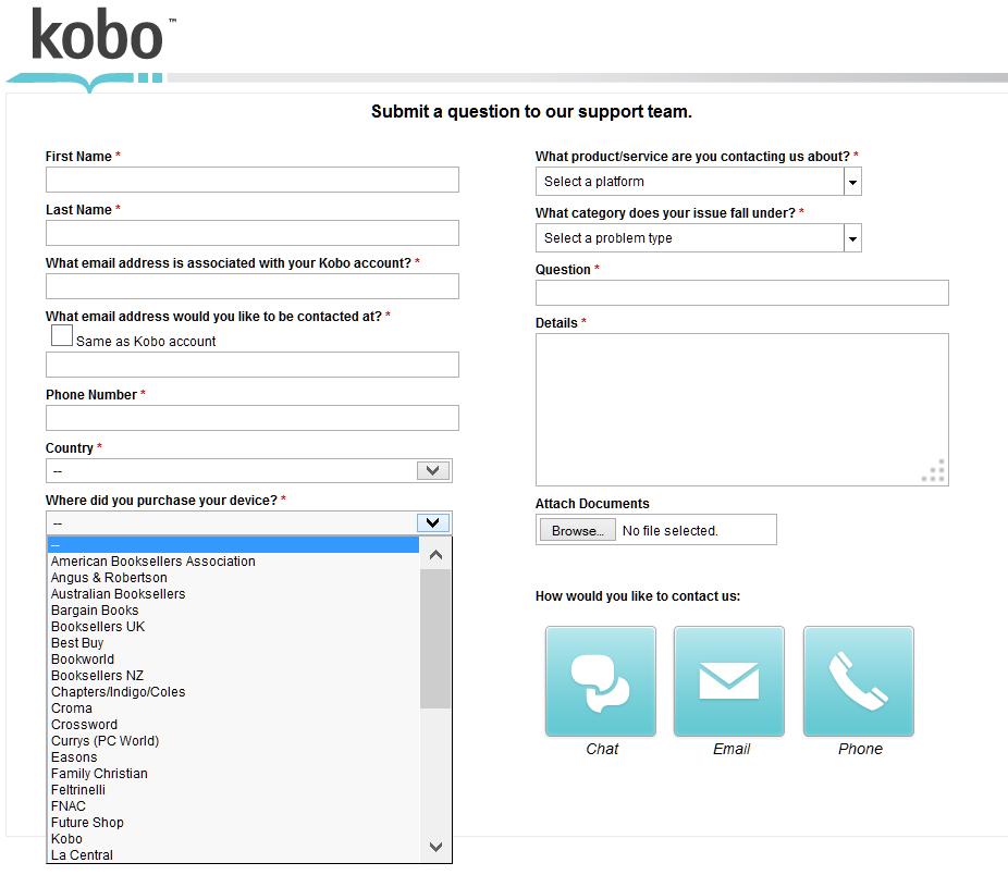 kobo customer service
