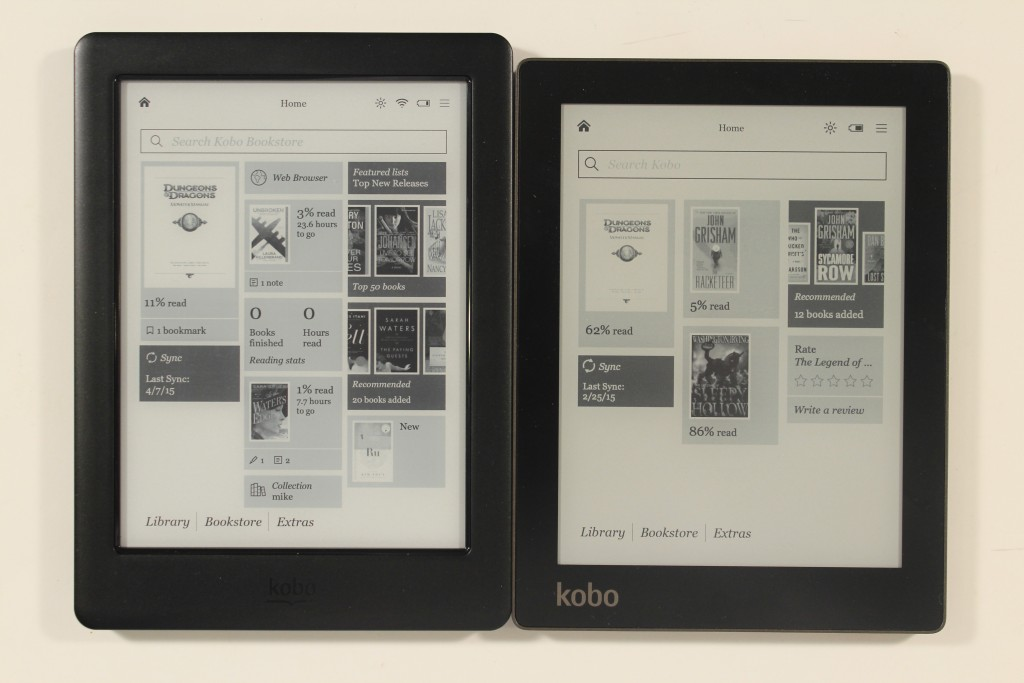 kobo glow hd vs kobo aura