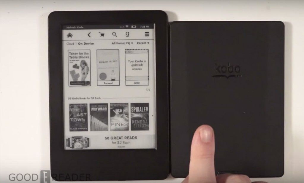 kobo touch 2.0 vs kindle basic