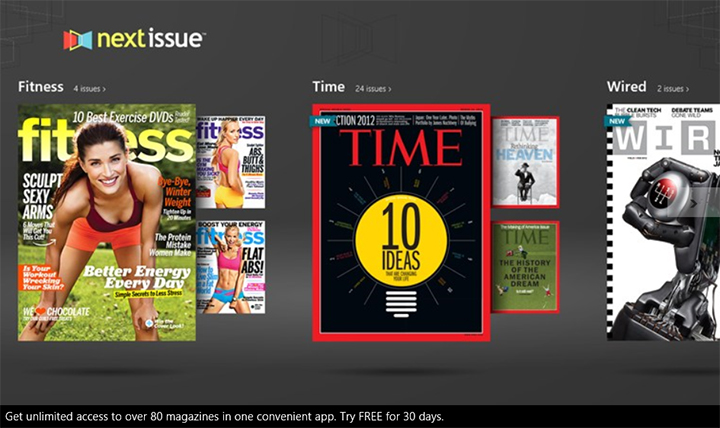 next issue windows 8
