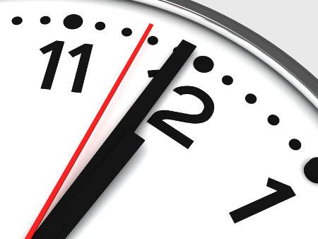 black and white chrome clock twelve midnight
