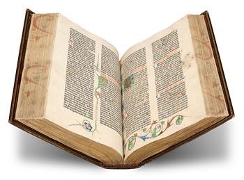 Photo of The Morgan Gutenberg Bible Online